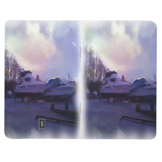 Zwei Boote Taschennotizbuch