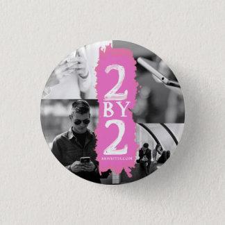 Zwei durch zwei runder button 3,2 cm