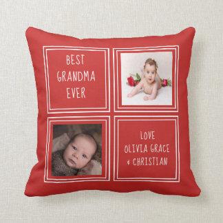 Zwei Foto personalisiertes von einer netten Kissen
