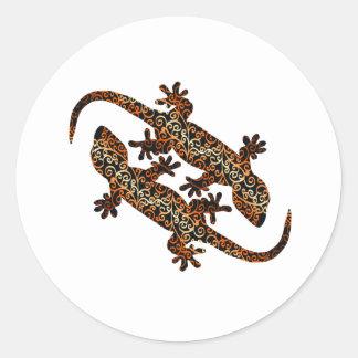 zwei geckos runder aufkleber