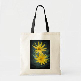 Zwei gelbe Blumen Topinambur Tragetasche