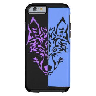 Zwei Gesicht Wolf Tough iPhone 6 Hülle