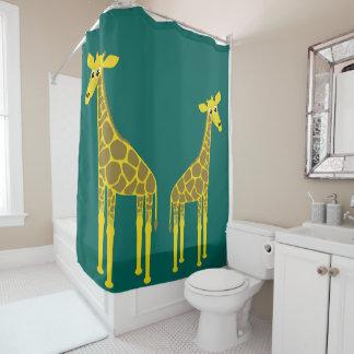 Zwei Giraffen Duschvorhang