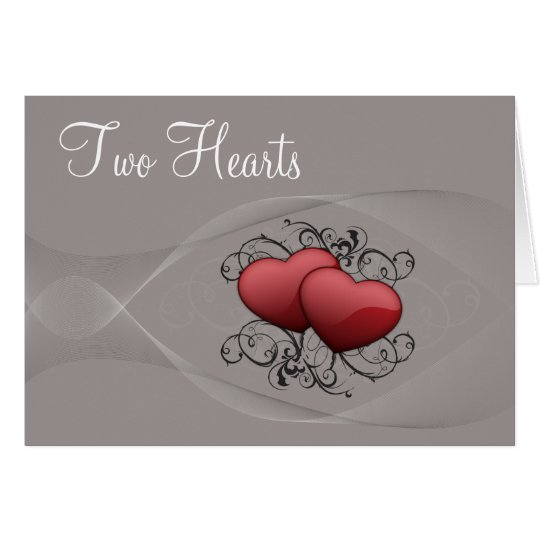 Zwei Herz-Karte Grußkarte