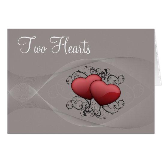 Zwei Herz-Karte Karte