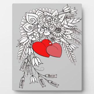 Zwei Herzen 2 Fotoplatte
