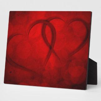 Zwei Herzen Fotoplatten