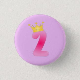 Zwei Jährig-Geburtstags-Prinzessin Button
