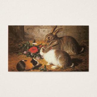Zwei Kaninchen und ein Meerschweinchen Visitenkarte