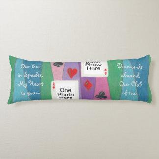 Zwei Karten Liebe-im romantischen Körper-Kissen Seitenschläferkissen