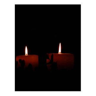 Zwei Kerzen Postkarte