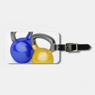 Zwei kettlebells kofferanhänger