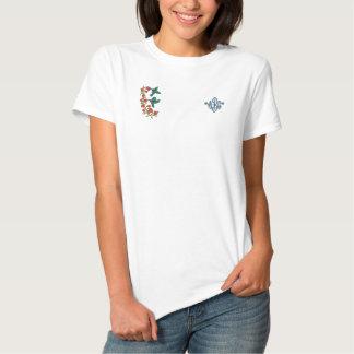 Zwei Kolibris Besticktes T-Shirt