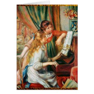Zwei Mädchen am Klavier durch Renoir Karte