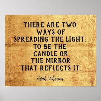 Zwei Möglichkeiten, Licht zu verbreiten -- Poster