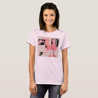 Zwei nacktes Frauen-Tanzen T-Shirt