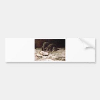 Zwei Ratten durch Vincent van Gogh Autoaufkleber