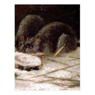 Zwei Ratten durch Vincent van Gogh Postkarte