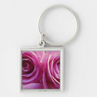 Zwei rosa Rosen Schlüsselanhänger