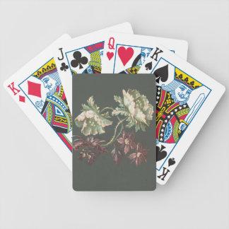 Zwei Rosen und zwei kleine Blumen Bicycle Spielkarten
