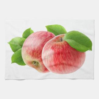 Zwei rote Äpfel Geschirrtuch