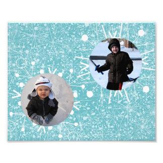Zwei Schneeflocke-Rahmen Foto Drucke