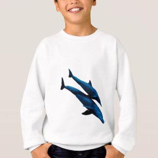 Zwei schwimmende Delphine in Meer Sweatshirt
