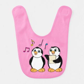 Zwei singende Pinguine Lätzchen