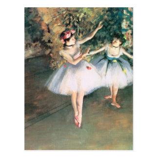 Zwei Tänzer auf einer Bühne durch Edgar entgasen, Postkarte