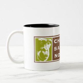 Zwei-Ton Schimpanse-Schongebiet-Nordwestlogo-Tasse Zweifarbige Tasse