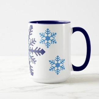 Zwei Ton-Schneeflocken Tasse