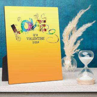 Zwei Ton-Sonnenschein-Gelb-Valentinsgruß Schautafeln