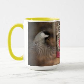 Zwei Vogel-Chickadee-Fink Tasse