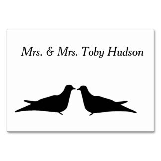 Zwei Vogel-Tabellen-Karte Karte