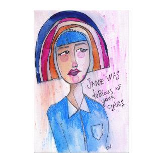 Zweifelhafte Jane Leinwanddruck