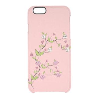 Zweig der Blumen Durchsichtige iPhone 6/6S Hülle