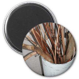 Zweig-Vase Runder Magnet 5,7 Cm