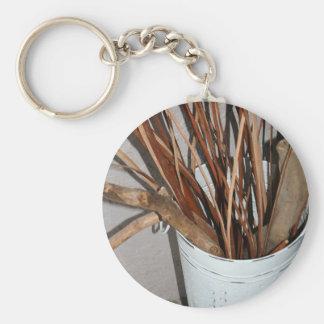 Zweig-Vase Schlüsselanhänger