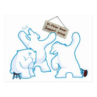 Zweipoliger Bär Postkarte
