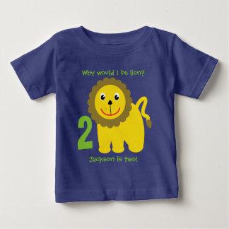 Zweiter Geburtstag des niedlichen Löwes Baby T-shirt