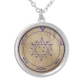 Zweites Pentagramm von Jupiter Halskette Mit Rundem Anhänger