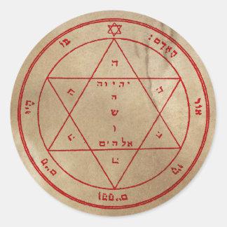 Zweites Pentagramm von Mars Runder Aufkleber
