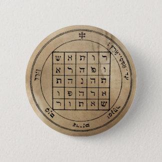 Zweites Pentagramm von Saturn-Knopf Runder Button 5,7 Cm