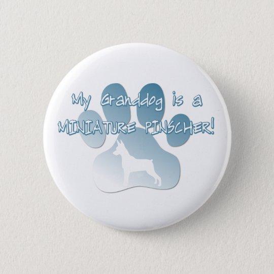 Zwergpinscher Granddog Runder Button 5,7 Cm