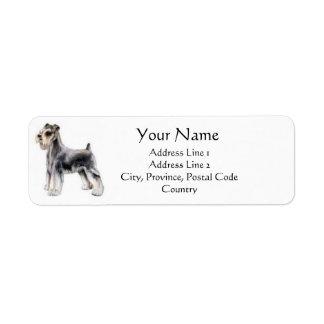 Zwergschnauzer-Adressen-Etiketten