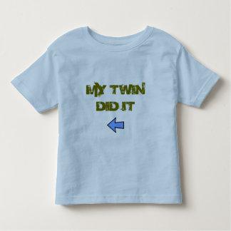 Zwilling tat es kleinkind t-shirt