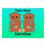 Zwillinge teilen alles grußkarten