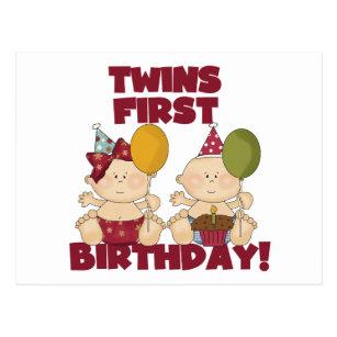 1 Geburtstag Zwillinge Karten Zazzle Ch