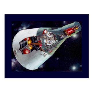 Zwillings-Raumfahrzeug-Ausschnitt Postkarte