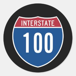 Zwischenstaatliche 100 runder aufkleber